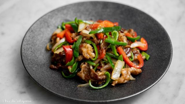 牛薄切り肉で作る青椒牛肉絲