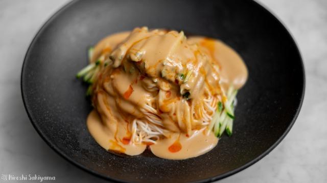 麻醤麺風素麺、アップ