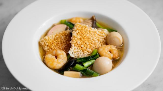 中華おこげスープ、アップ