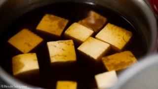 赤味噌で煮る