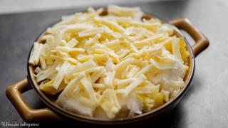 チーズをちらした