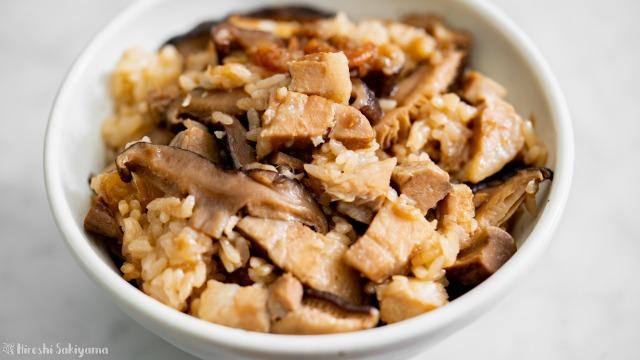 炊飯器で作る台湾油飯(ヨウファン・台湾風おこわ)、アップ