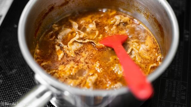 スープを煮る