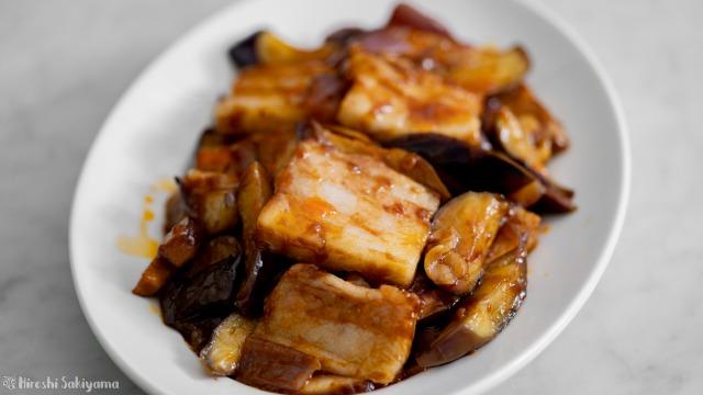 茄子の回鍋肉、正面から