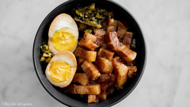 魯肉飯(ルーローハン)、上から