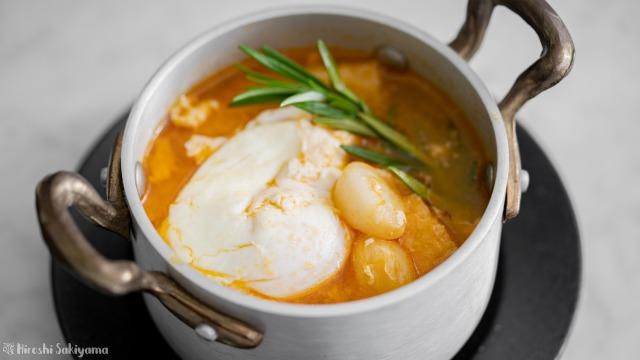 ソパ・デ・アホ(スペイン風にんにくスープ)、アップ