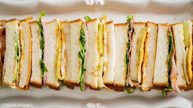 台湾サンドイッチ(三明治サンミンヂー)、上から