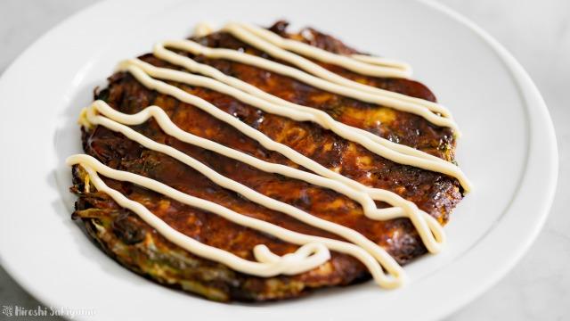 豆腐と米粉の野菜お好み焼き