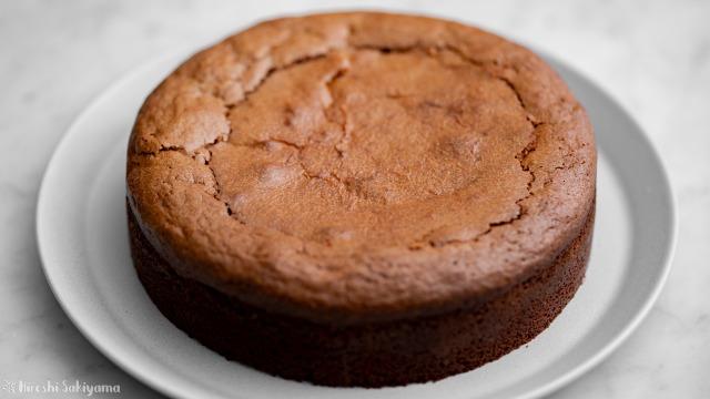 トルタカプレーゼ(チョコレートとアーモンドのケーキ)、アップ