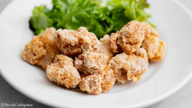 鶏の腐乳唐揚げ、アップ
