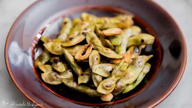 ガーリック焼き枝豆のレシピ