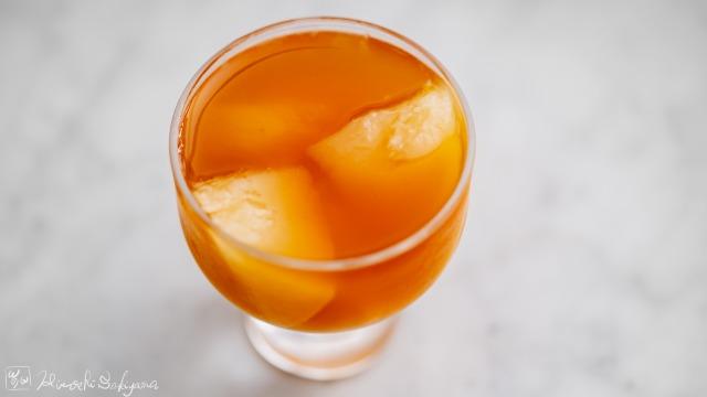 桃の紅茶ゼリー