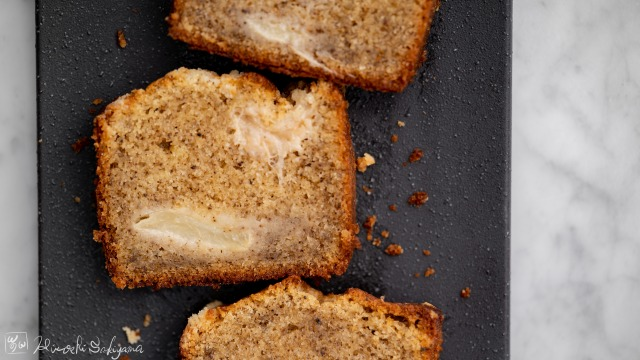 桃と紅茶のパウンドケーキ