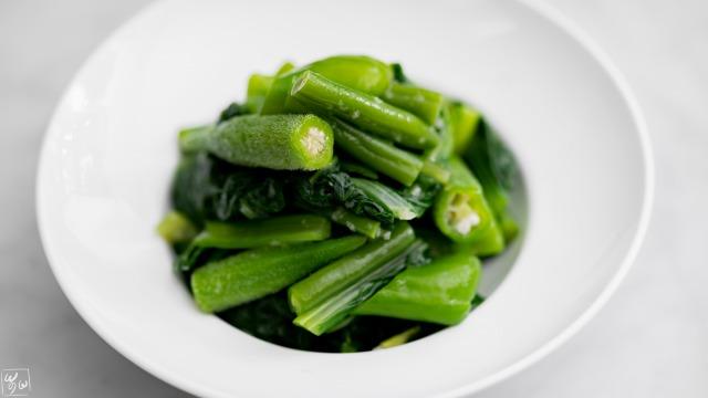 緑野菜の生姜おひたし