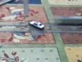 電車がパトカーをひく2