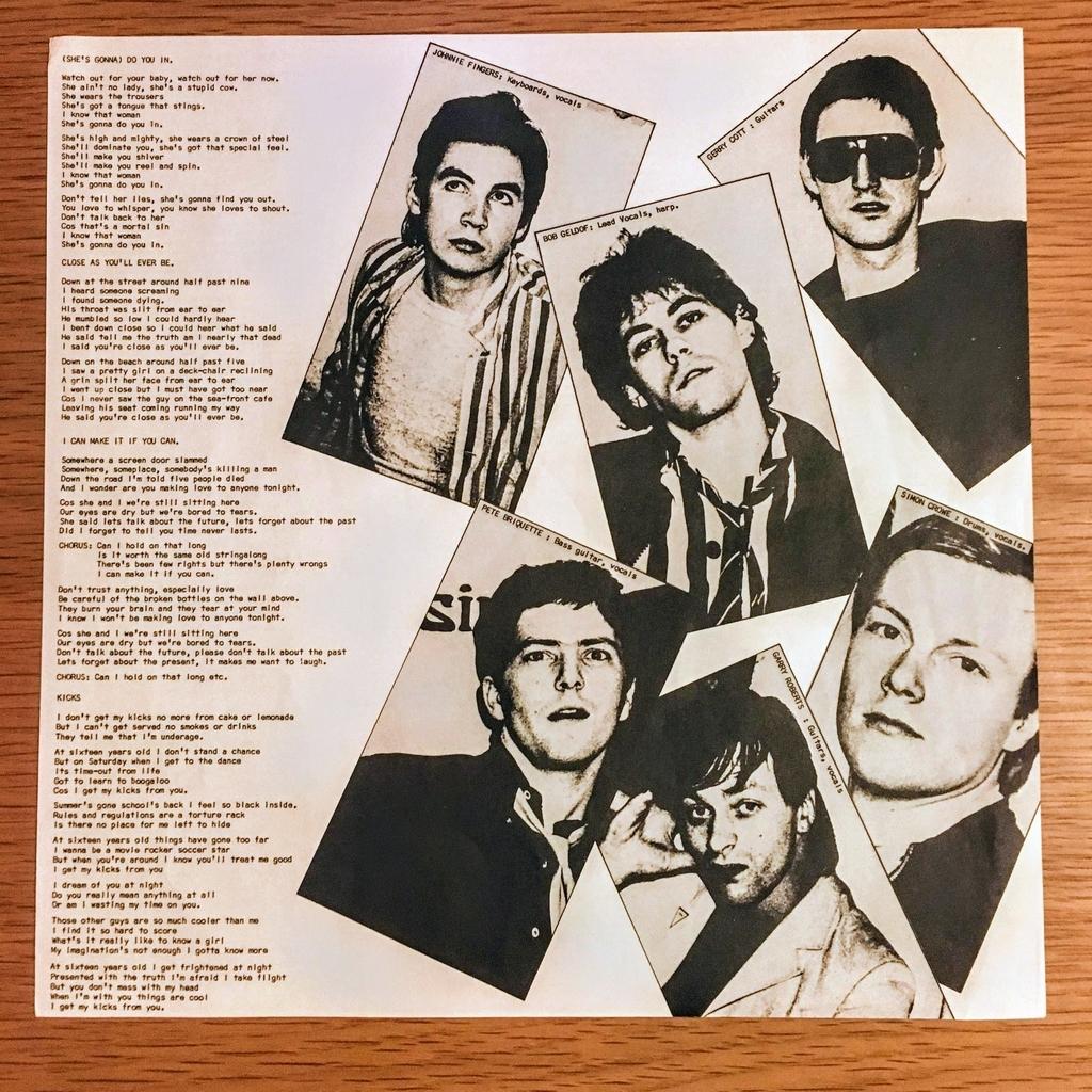 ブームラウン・ラッツ レコード 歌詞カード