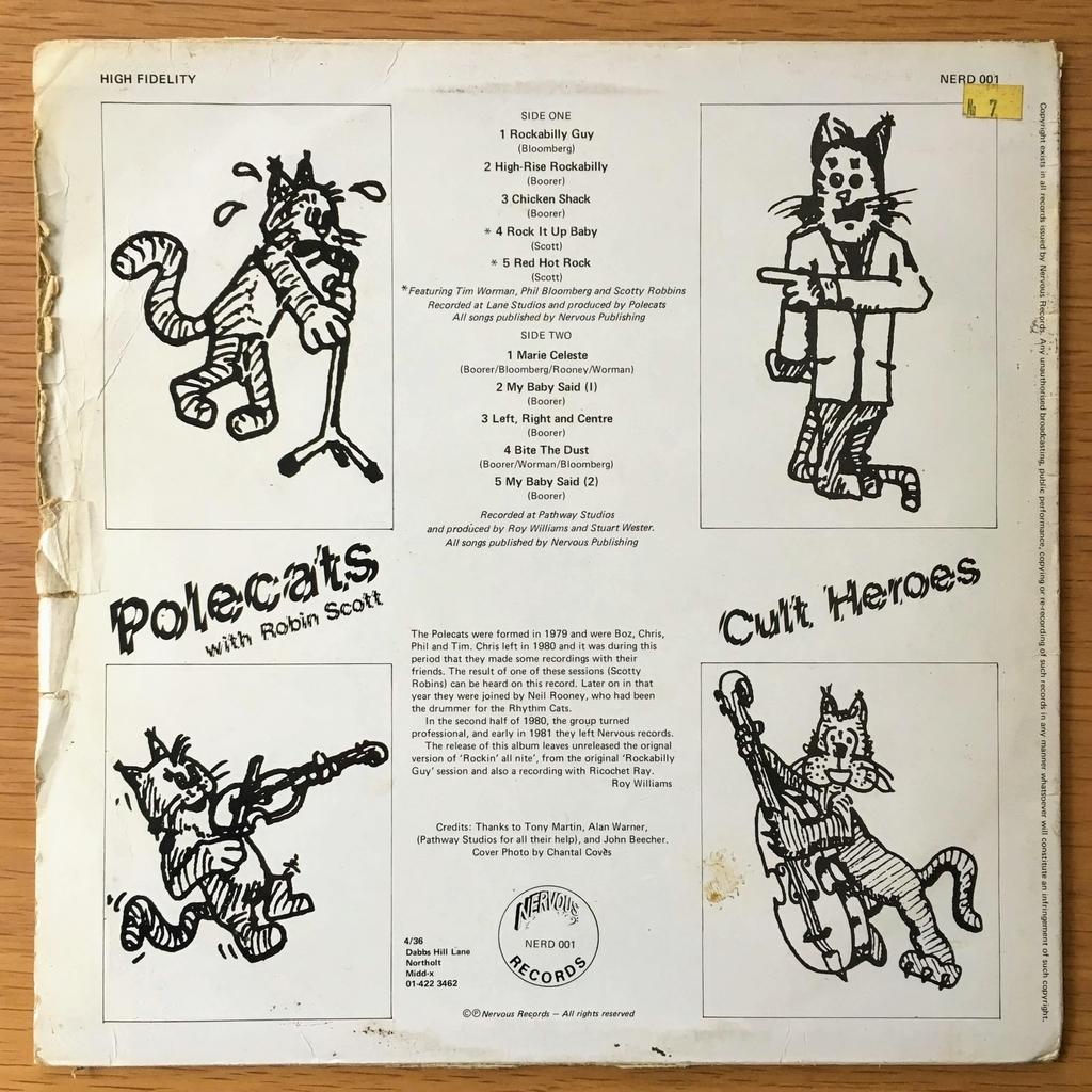 ポール・キャッツ(POLECATS)のCult Heroes レコード 裏面