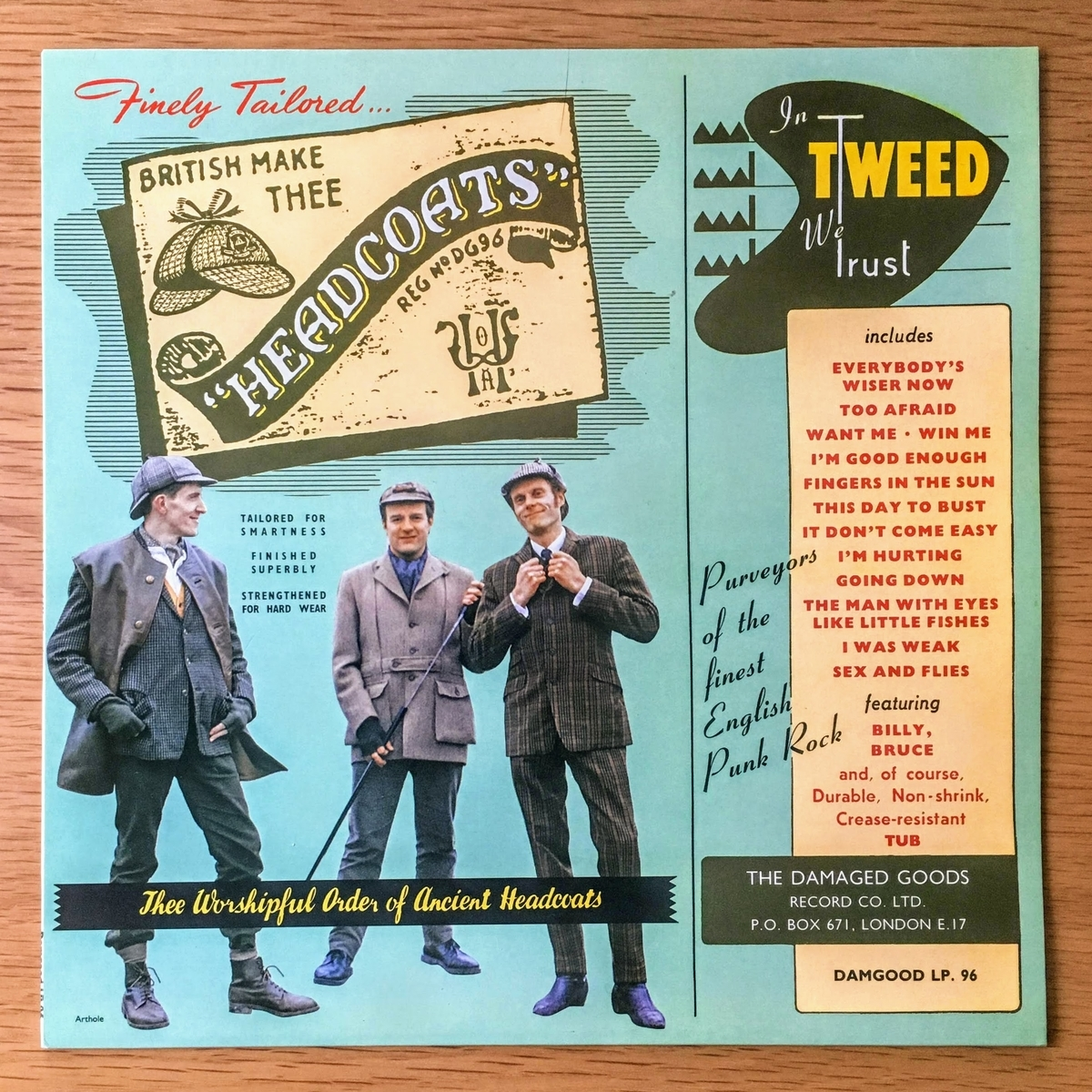 ヘッドコーツ(THEE HEADCOATS) IN TWEED WE TRUSTのレコード