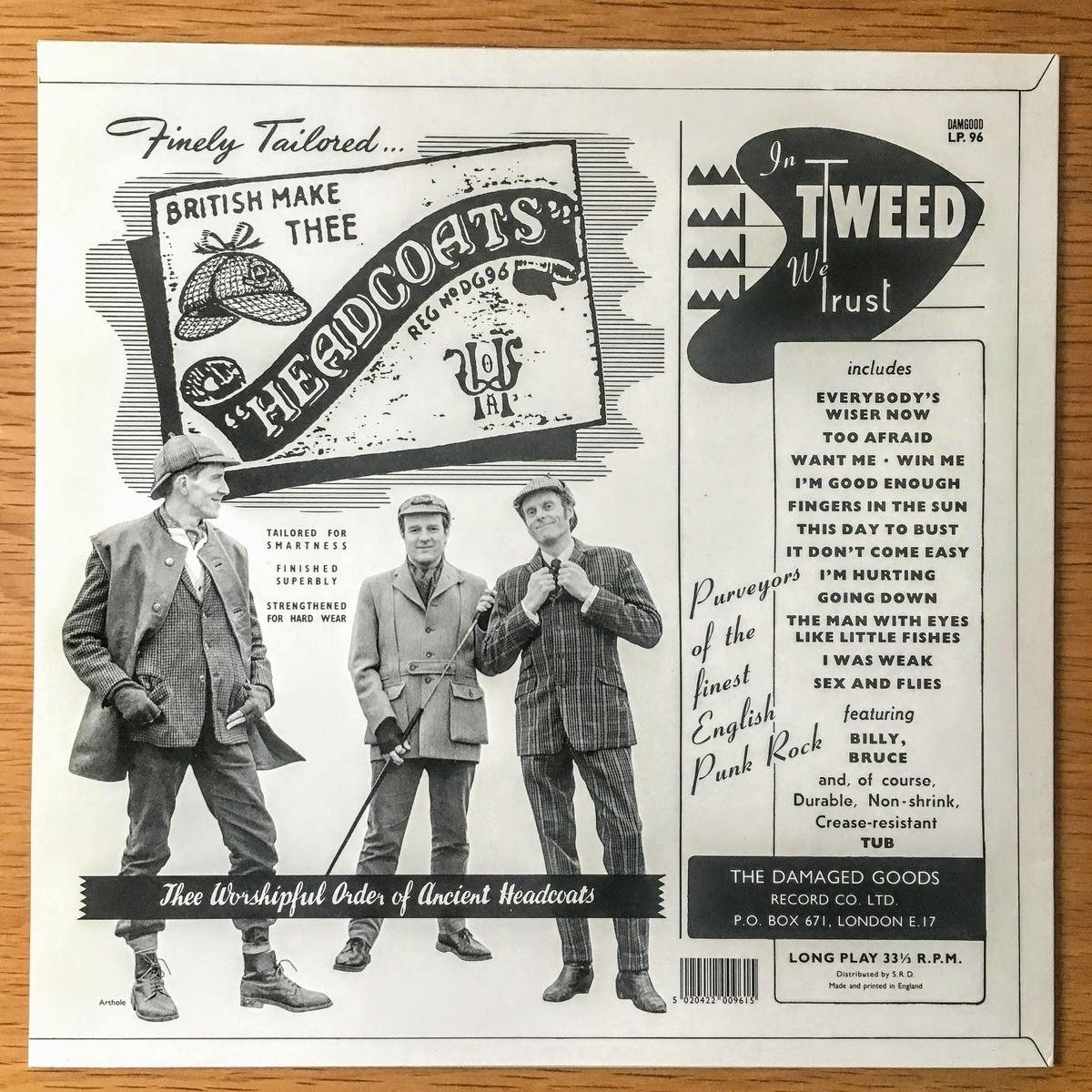 ヘッドコーツ(THEE HEADCOATS) IN TWEED WE TRUSTのレコード 裏面