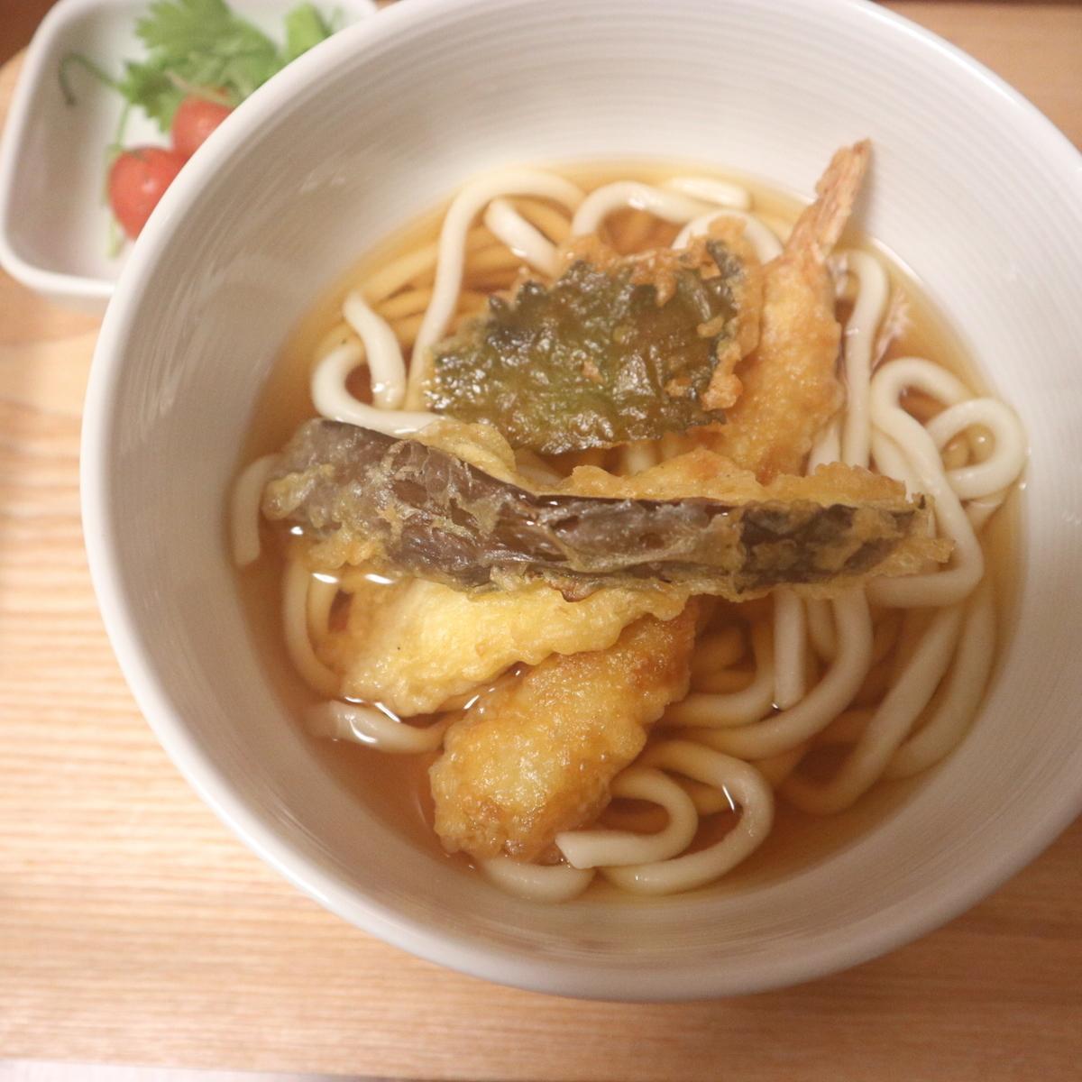 ヘルシオで作った天ぷらうどん