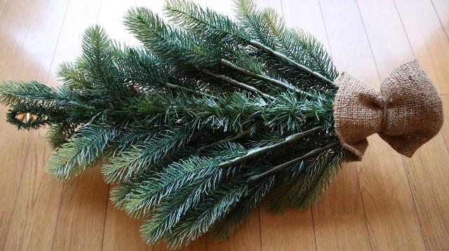 壁掛け式クリスマスツリーの背面