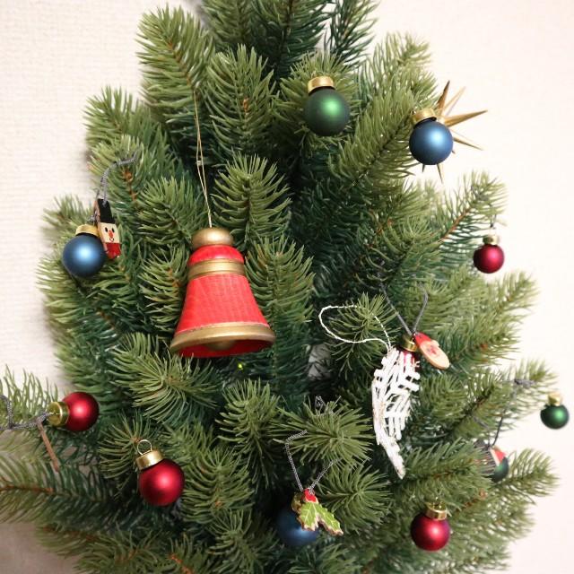 壁掛け式クリスマスツリーの写真