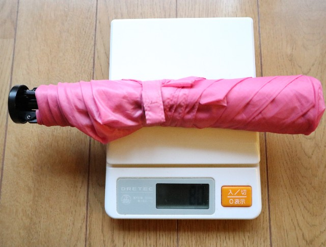 72gの折りたたみ傘(メモリは80g・・・)