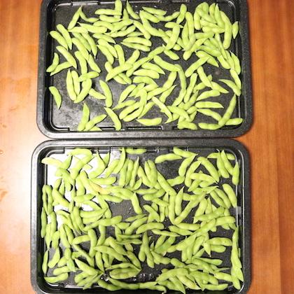 大量枝豆(ヘルシオ天板2枚ぶん)