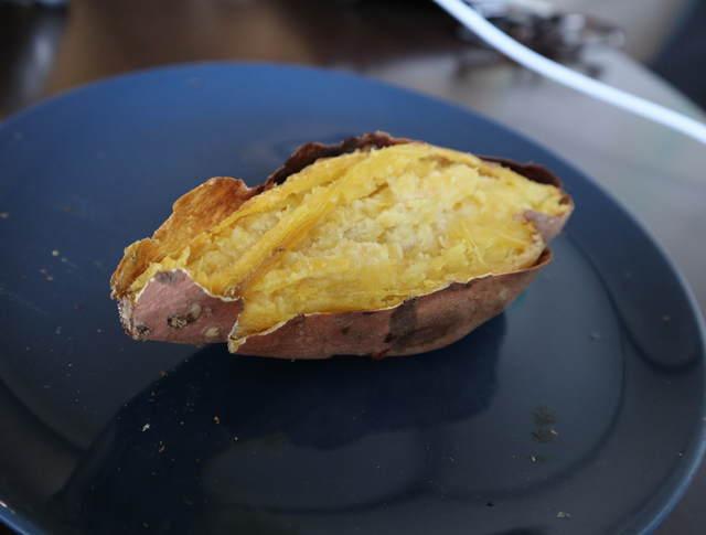 ヘルシオで作る焼き芋の写真_安納芋