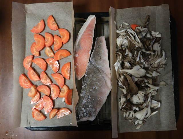 ヘルシオレシピ_まかせて調理_焼き魚_加熱前の写真