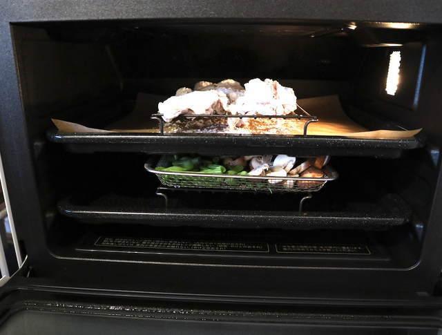 ヘルシオ2段調理の写真