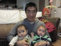 with my son and nephew @ Sendai 2013/05/11