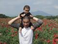 with my son @ Kokai river, Shimotsuma 2013/05/26