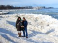 standing on drift ice @ Michigan Lake, Evanston 2015/01/20