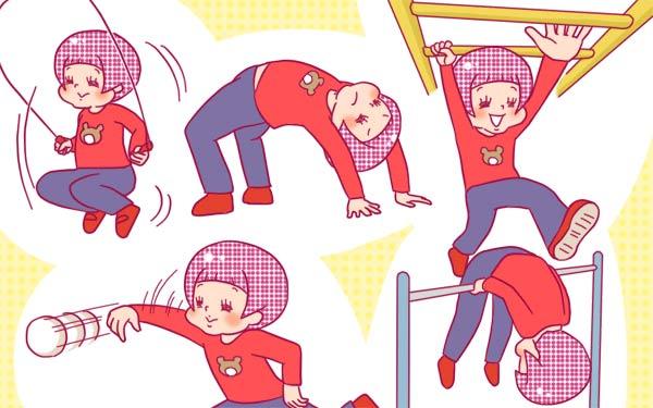 子どもの運動神経を伸ばす運動遊びのイラスト