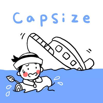 転覆 英単語 capsize