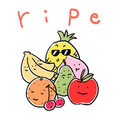 熟した 英単語 ripe