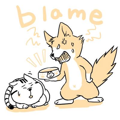 blame 避難する 英単語