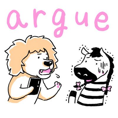 argue 主張する 英単語