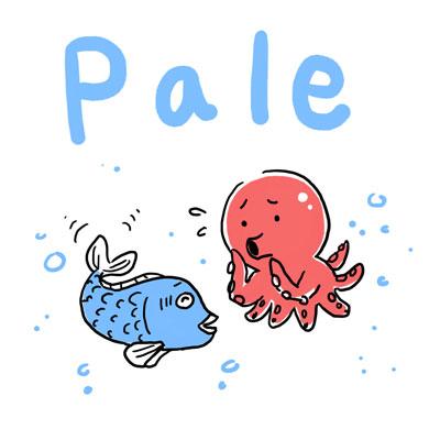 pale 青ざめた 英単語