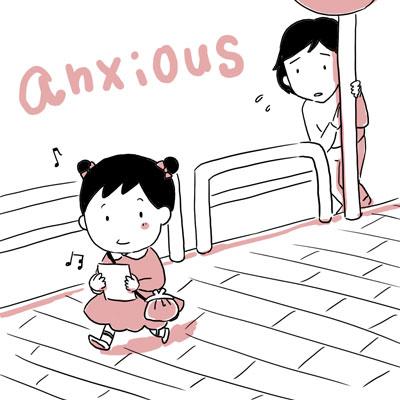 anxious 心配 英語