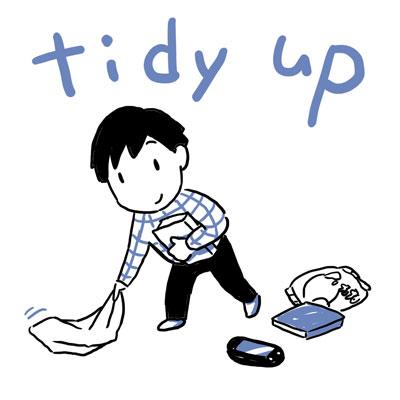 tidy up 片付ける 英単語