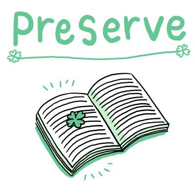 preserve 保存する 英単語