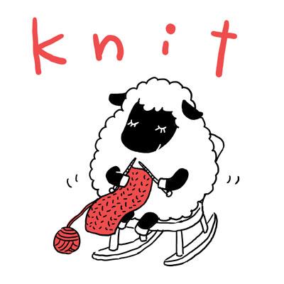 knit 編む 英単語