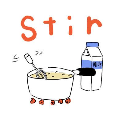 stir かき混ぜる 英単語