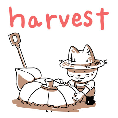 harvest 収穫 英単語