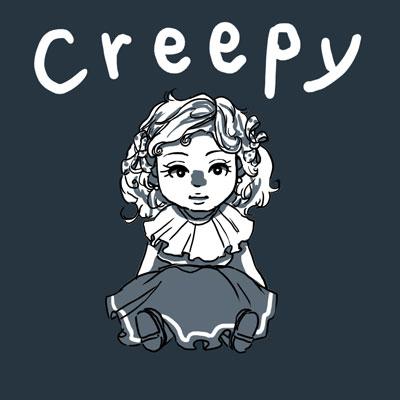 creepy ぞっとする 英単語
