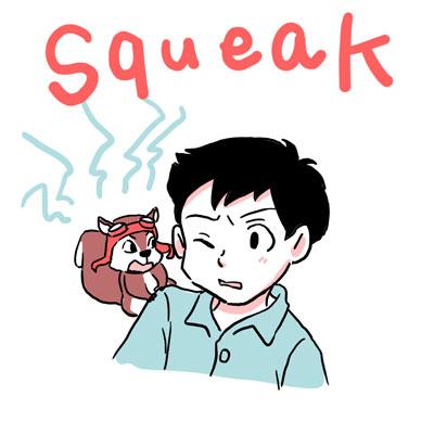 squeak キーキー 英単語