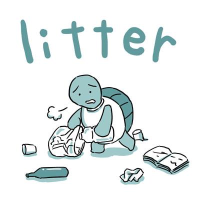 litter ちらかす 英語