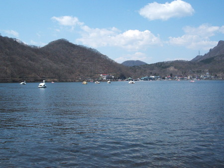榛名湖にて。